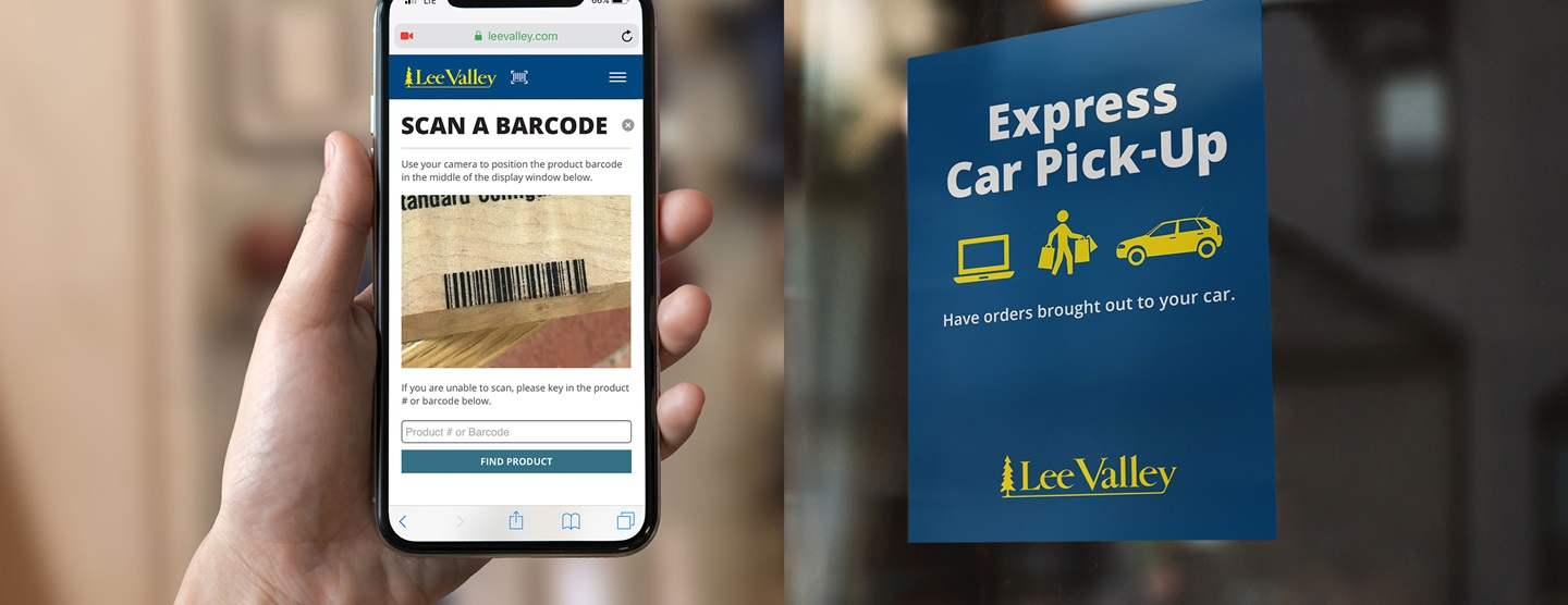 Contactless Shopping. Scan items in our showroom on your phone and we'll gather them for you with in-store Mobile Shopping. Or shop online and we'll bring your order to your car with Express Pick-Up.
