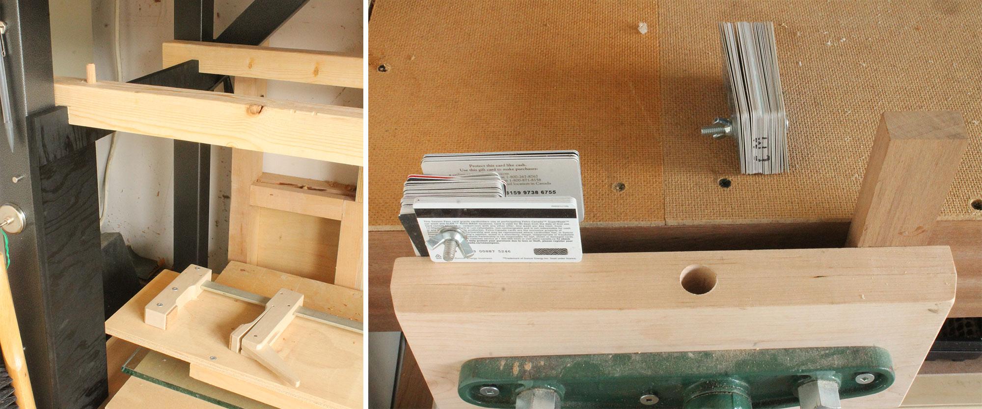 Left: Removable shelves. Right: Adjustable spacer.