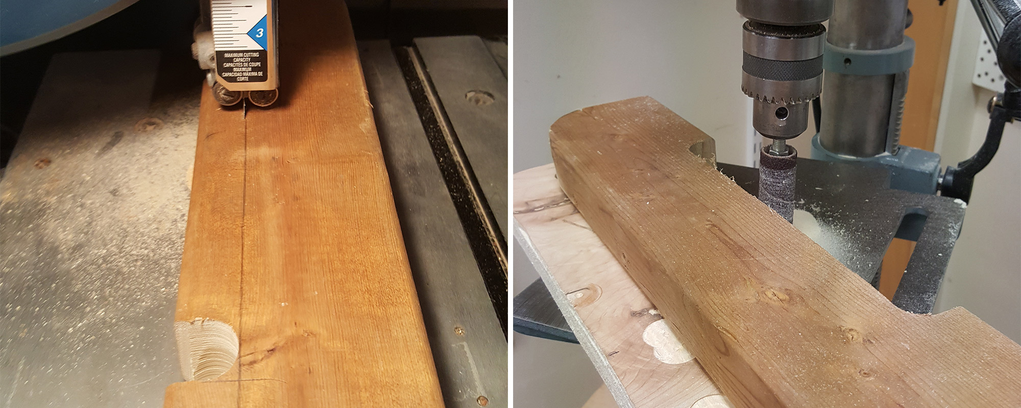 Left: Removing the waste. Right: Smoothing the inside.