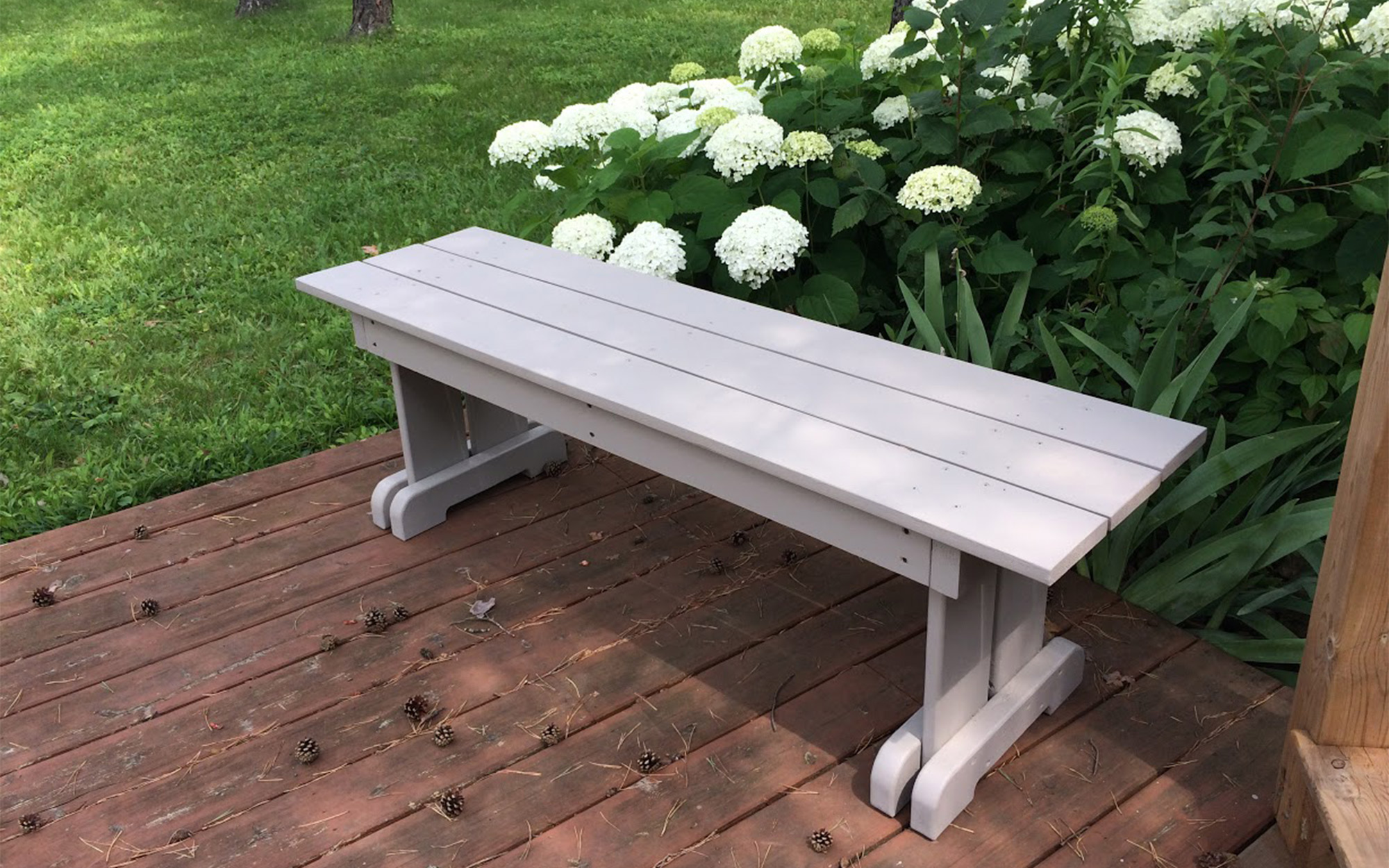Completed bench
