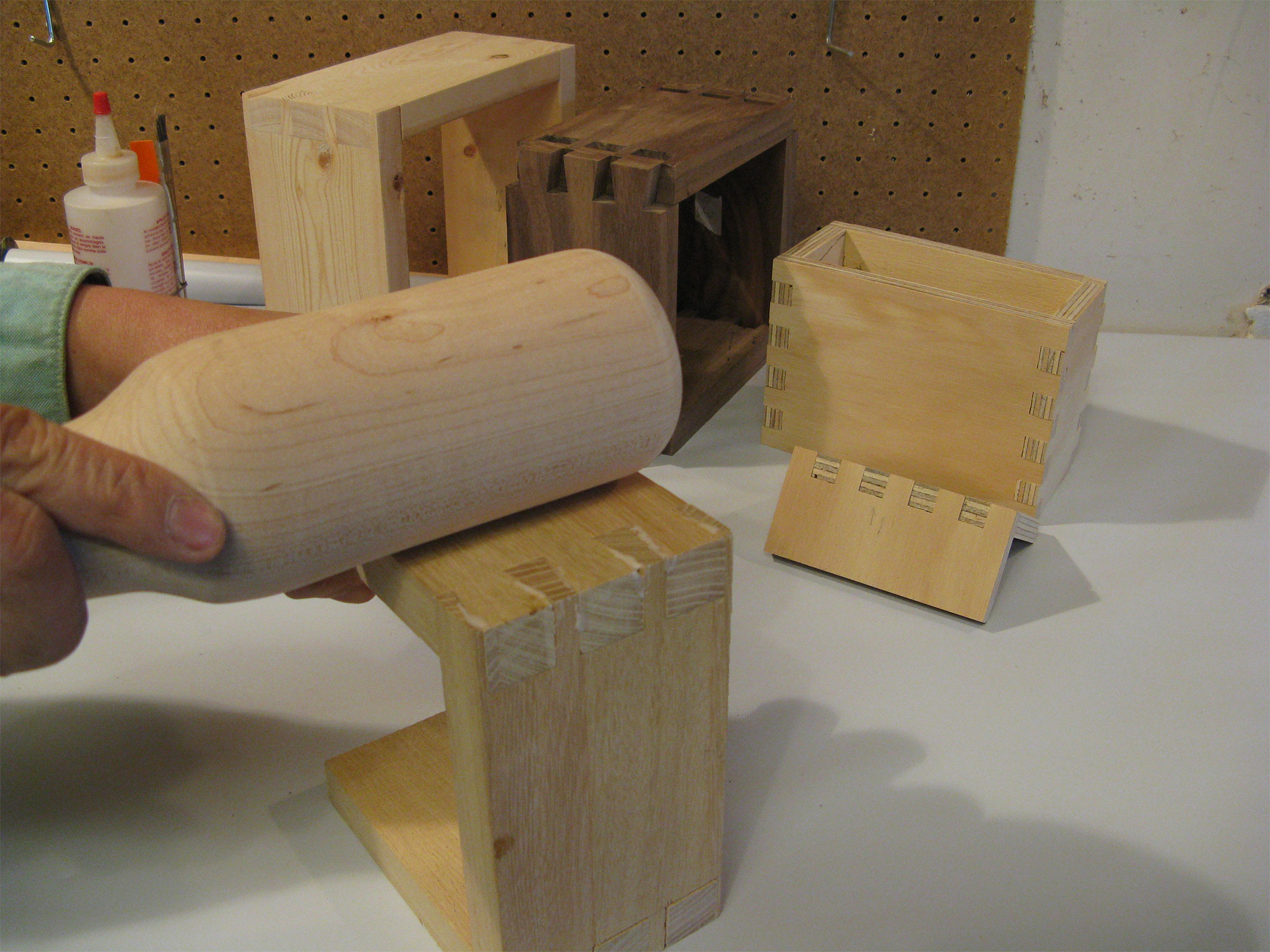 Using a mallet to keep squeeze-out to the outside surfaces.