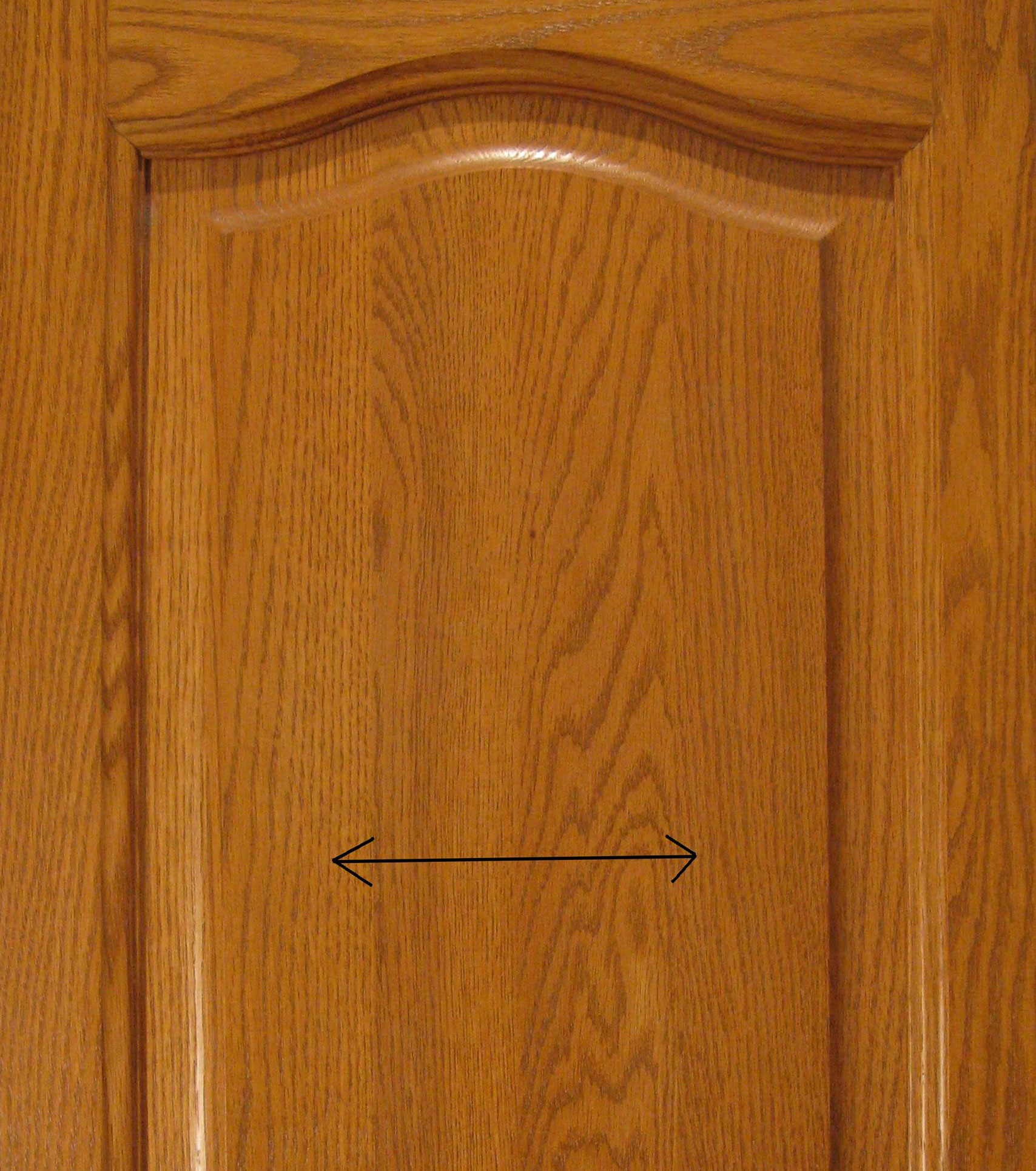 Wooden cabinet door.