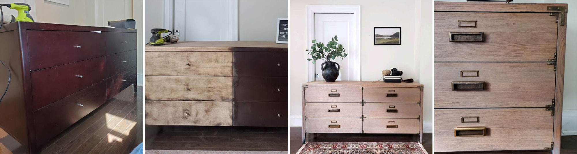 Some before and after pictures of the dresser.