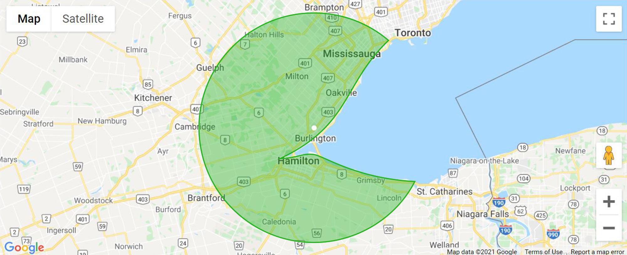 Burlington map