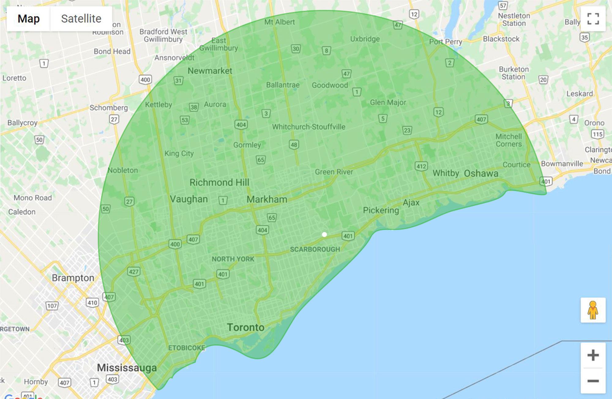 Toronto East map