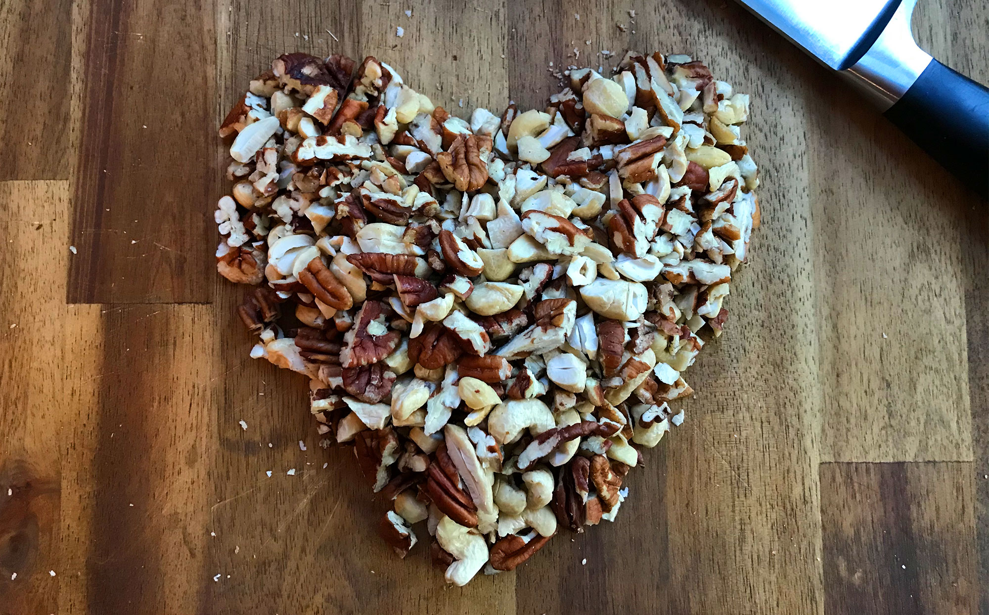 Chopped pecans and cashews